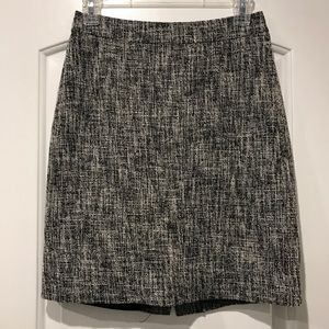 Kate Spade Black & White Crosshatch Pencil Skirt